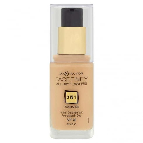 Max Factor Mf Facefinity 3 In 1 Foundation 55 Beige 30ml SPF 20
