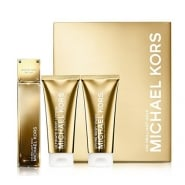 Michael Kors 24K Brilliant Gold Gift Set 50ml EDP + 100ml Body Wash + 100ml Body Lotion