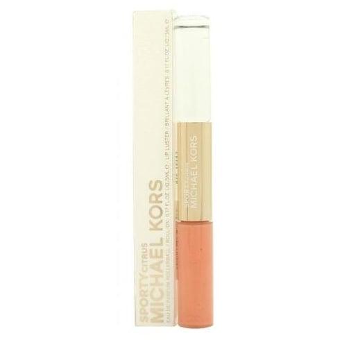 Michael Kors Sporty Citrus Gift Set 5ml EDP Rollerball + 5ml Peach Lip Gloss