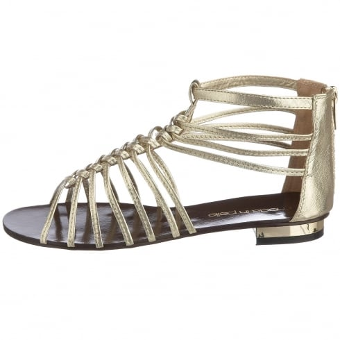 Moda in Pelle Oxin Gladiators - Gold / Leather
