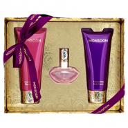 Monsoon Gift Set 30ml EDT Spray + 100ml Body Cream + 100ml Bath & Shower Cream