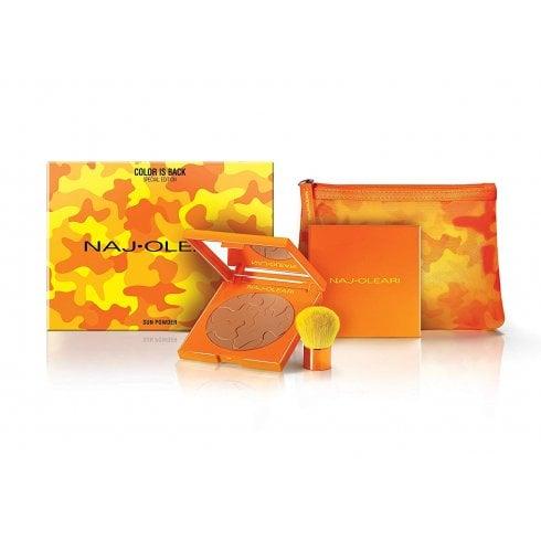Naj Oleari Sun Powder #61 Cinnamon 25G & Brush & Zip Pouch