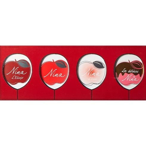 Nina Ricci Femme Miniature Set Gift Set 4 x 4ml - Nina EDT + Nina L'Eau EDT + Nina L'Elixir EDP + Nina Les Delices EDT