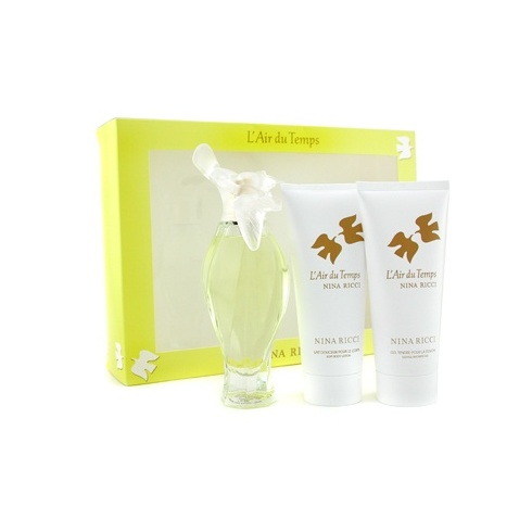 Nina Ricci L'air Du Temps Gift Set 100ml EDT + 100ml Body Lotion + 100ml Shower Gel