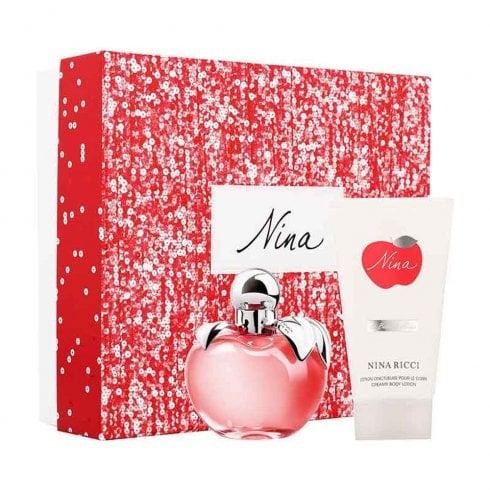 Nina Ricci Nina Gift Set 50ml EDT + 50ml Body Lotion + 50ml Shower Gel