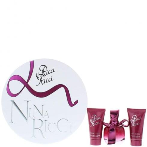 Nina Ricci Ricci Ricci Gift Set 50ml EDP + 50ml Body Lotion + 50ml Shower Gel