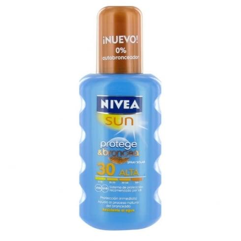 Nivea Sun Protect And Bronze Sun Spray SPF30 200ml