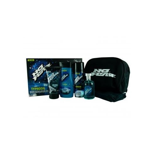 No Fear Typhoon Gift Set 100ml EDT + 250ml Shower Gel + 200ml Body Spray + 175ml Shaving Gel + Face Cloth + Bag