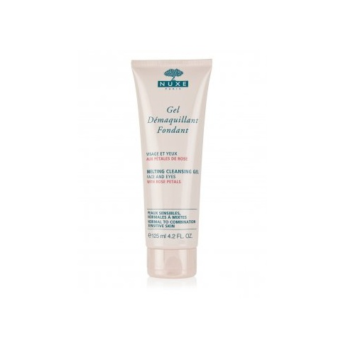 Nuxe Melting Cleansing Gel with Rose Petals 125ml (Face & Eyes)