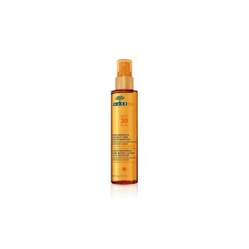 Nuxe Sun SPF10 Tanning Oil For Face & Body 150ml