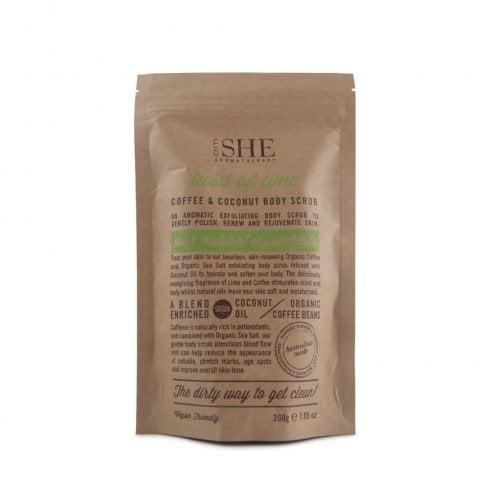 Om She Coffee & Coconut Body Scrub Twist Of Lime 200G