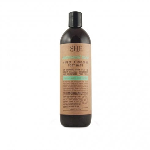 Om She Coffee & Coconut Body Wash Eppermint Boost 500ml