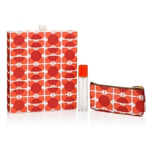 Orla Kiely Geranium Gift Set 25ml Purse Spray + Cosmetic Bag