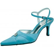 Lexus Orla Womens Diamond Flower Brooch Strap Heels
