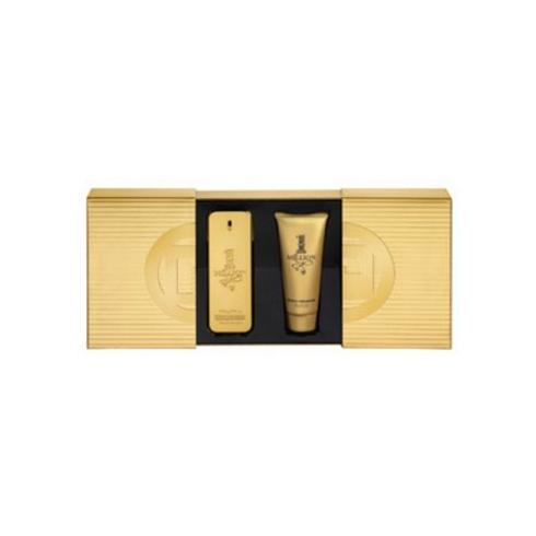 Paco Rabanne 1 Million 100ml EDT Spray / 100ml Shower Gel (Slide Box)