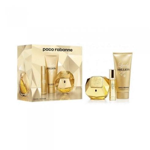 Paco Rabanne Lady Million Gift Set 80ml EDP + 100ml Body Lotion + 5ml EDP