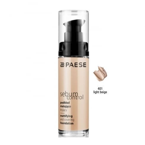 Paes Cosmetics Paese Sebum Control Mattifying And Covering Foundation 401 Light Beige