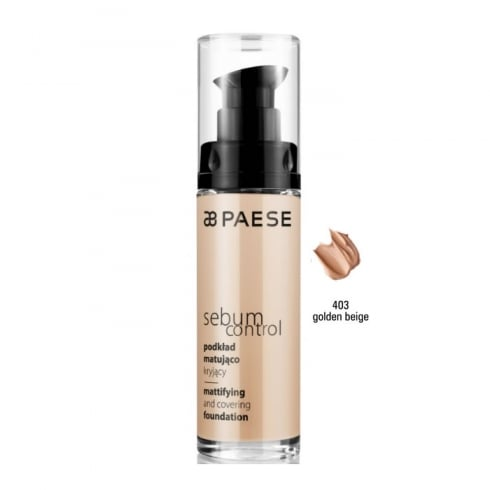 Paes Cosmetics Paese Sebum Control Mattifying And Covering Foundation 403 Golden Beige