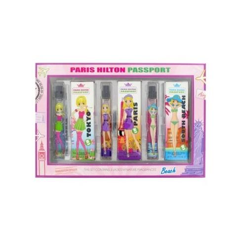 Paris Hilton Passport Mini Gift Set 3 x 7.5ml EDT - Tokyo + Paris + South Beach