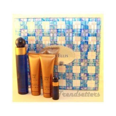 Perry Ellis 360 Blue F EDP 100ml & B/Lotion 90ml & S/Gel 90ml & EDP