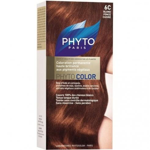 Phyto Color Permanent Hair Colour - 6C Dark Coppery Blond