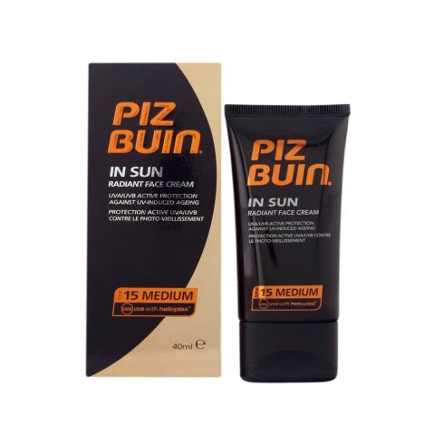 Piz Buin In Sun Radiant Face Cream SPF 15 (Medium) 40ml