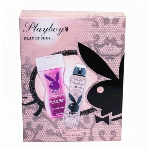 Playboy Play It Sexy Gift Set 75ml Body Spray + 250ml Shower Gel