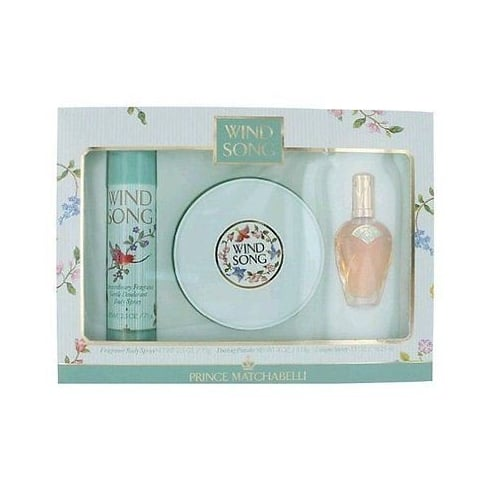 Prince Matchabelli Wind Song Gift Set - 71ml Body Spray + 16.25ml Cologne+ 14ml EDT