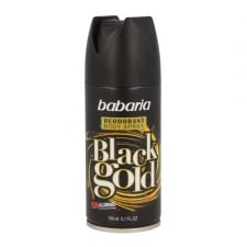 Babaria Black Gold Deodorant Spray 150ml+50ml Free