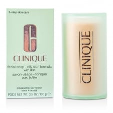 CLINIQUE FACIAL SOAP OILY SKIN     FORMULA WITH DISH 100G COMB. OILY