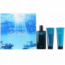 Davidoff Cool Water Gift Set 40ml EDT Spray + 50ml Shower Gel + 50ml Aftershave Balm