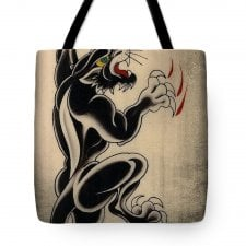 Ed Hardy Panther Tote Bag