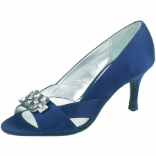 Lexus Kayla Womens Open Peek Toe Diamond Brooch Heels
