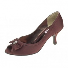 Lexus Lynn Womens Open Peek Toe Bow Heels
