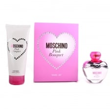 Moschino Pink Bouquet Gift Set - 50ml EDT + 100ml Body Lotion