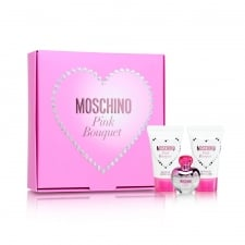 Moschino Pink Bouquet Gift Set - 50ml EDT + 100ml Shower Gel + 100ml Body Lotion