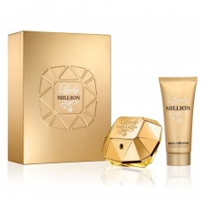 Paco Rabanne Lady Million 50ml EDP Spray + 100ml Sensual Body Lotion