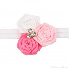 Repetto Pink Ribbon Flower Headband