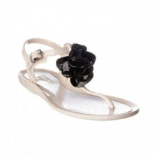 Rubber Duck Women's T-Bar Ivory Jelly Sandals