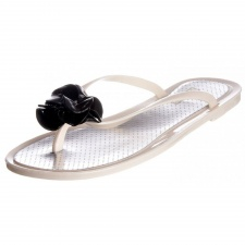 Rubber Duck Women's White Jelly Flip-flop