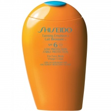 Shiseido Protective Tanning Emulsion SPF6 Low Protection Face/Body 150ml