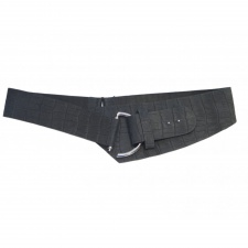Total Accessories Black Tan Hook Buckle Belt