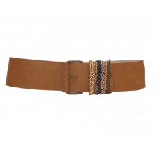 Total Accessories Italian Tan Buckle Belt - 9921