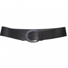 Total Accessories Ladies Black Shaped Belt