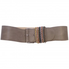 Total Accessories Ladies Brown Buckle Belt