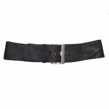 Total Accessories Wide Vintage Italian Leather Belt