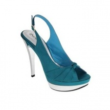 Unze Peep Toe Shoes - Blue