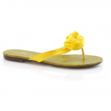 Unze Yellow Rose Flip Flops