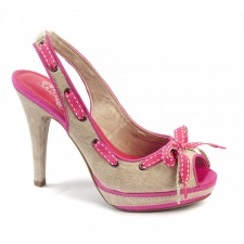 Xti Ladies Slingbak Peep Toe - Pink - 32665