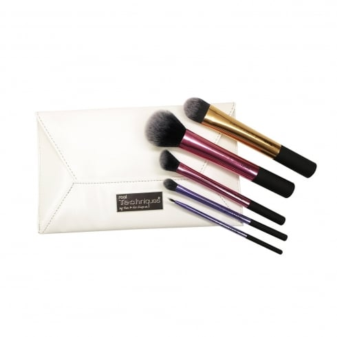 Real Techniques Deluxe Collectors Edition Gift Set - 5x Brush + Case